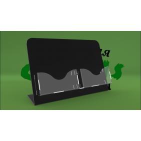 Подставка под визитки с черным основанием