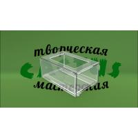 Подставка для карандашей из акрила прозрачного