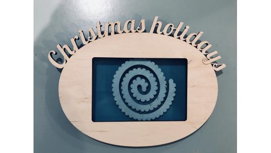"""Фоторамка """"Christmas holidays"""" (Рождественские каникулы)"""