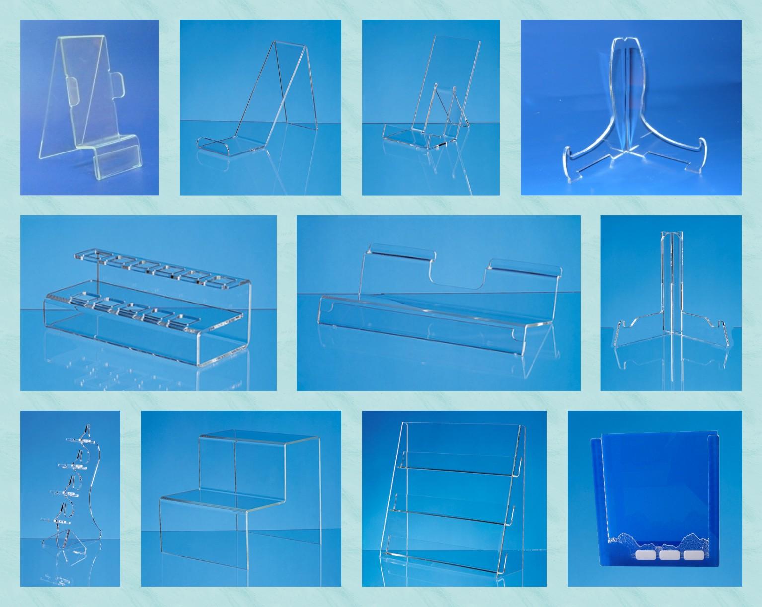 Пластиковые подставки из акрила, оргстекла, пластика для ветрин